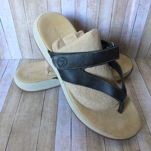 Rockport Black Comfort Adjustable Thong Sandal 9W